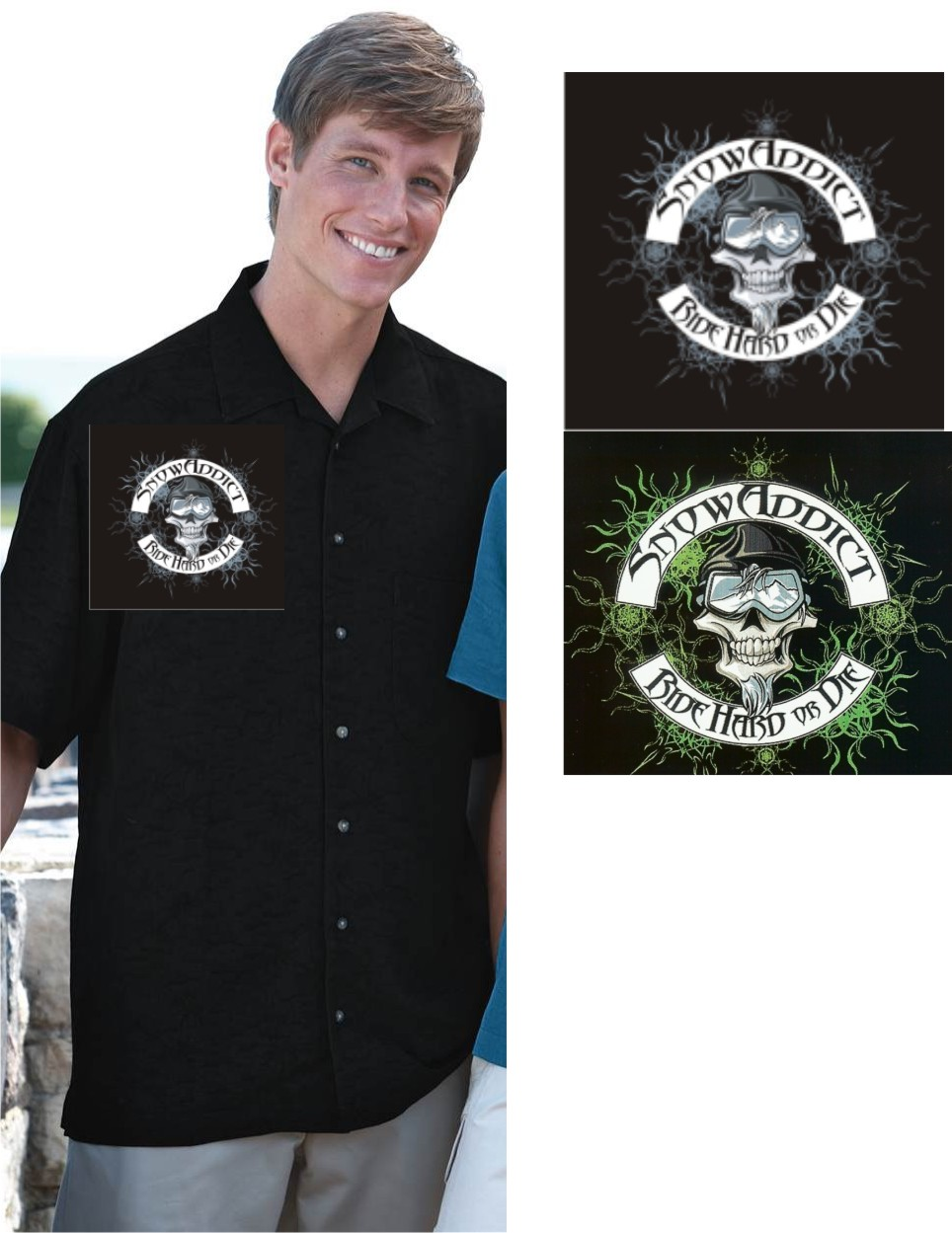 SnowAddiction Shop Shirt - click here to purchase